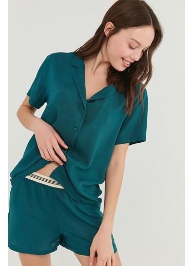 Penti Deep Ocean Gömlek şort Takımı  Kadın  Pijama Takımı  Ana Kumaş Vıscose 100,00 Ana Kumaş Vıscose 100,00   Yeşil